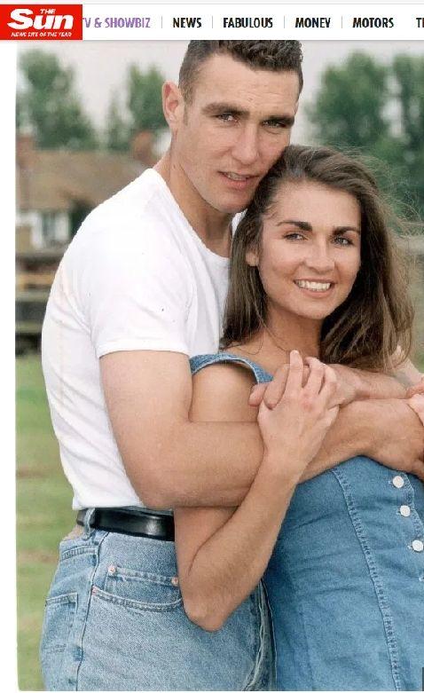Вини Джоунс и съпругата му Таня