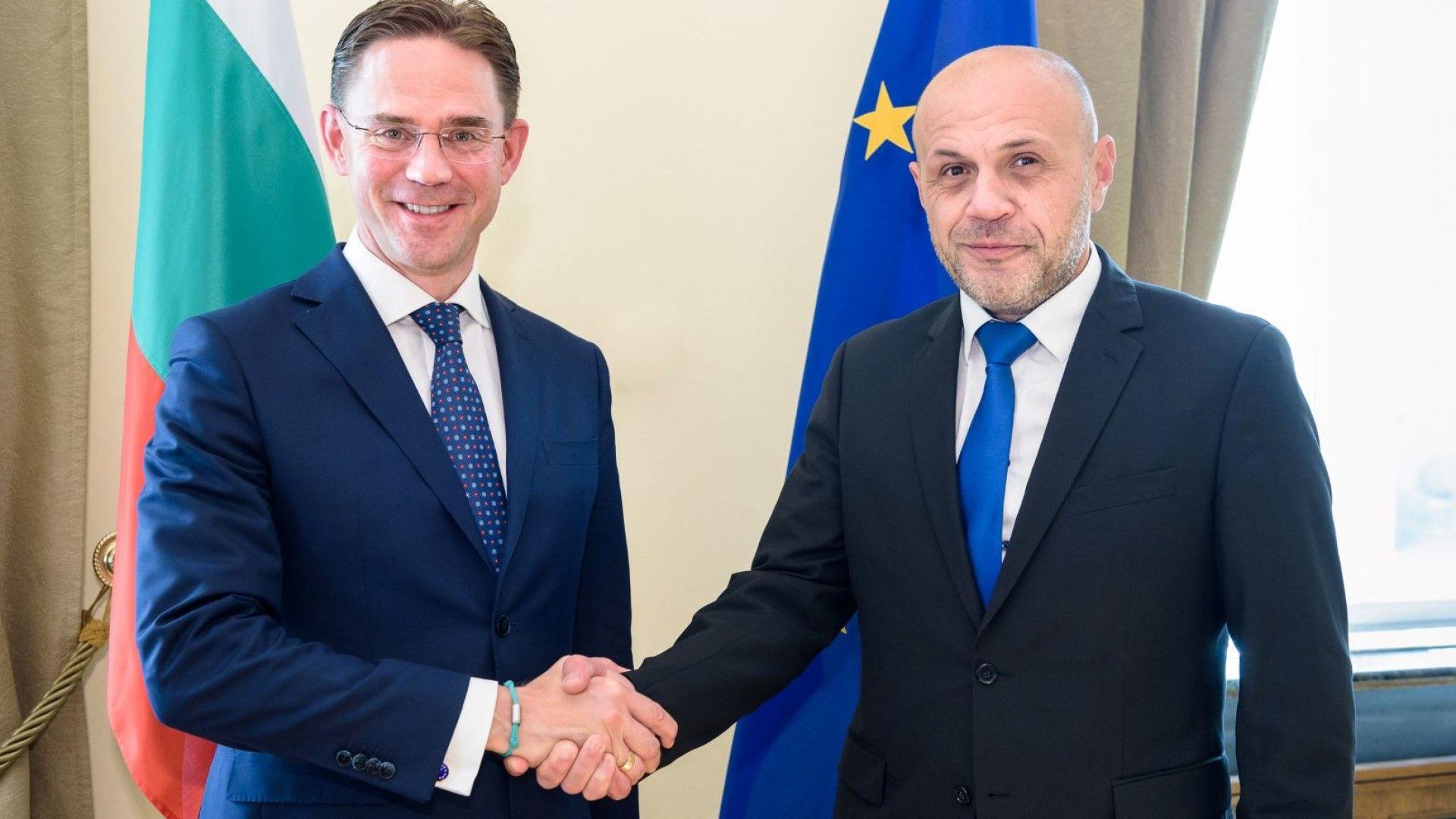 Заместник министър-председателят Томислав Дончев се срещна със заместник-председателя на Европейската