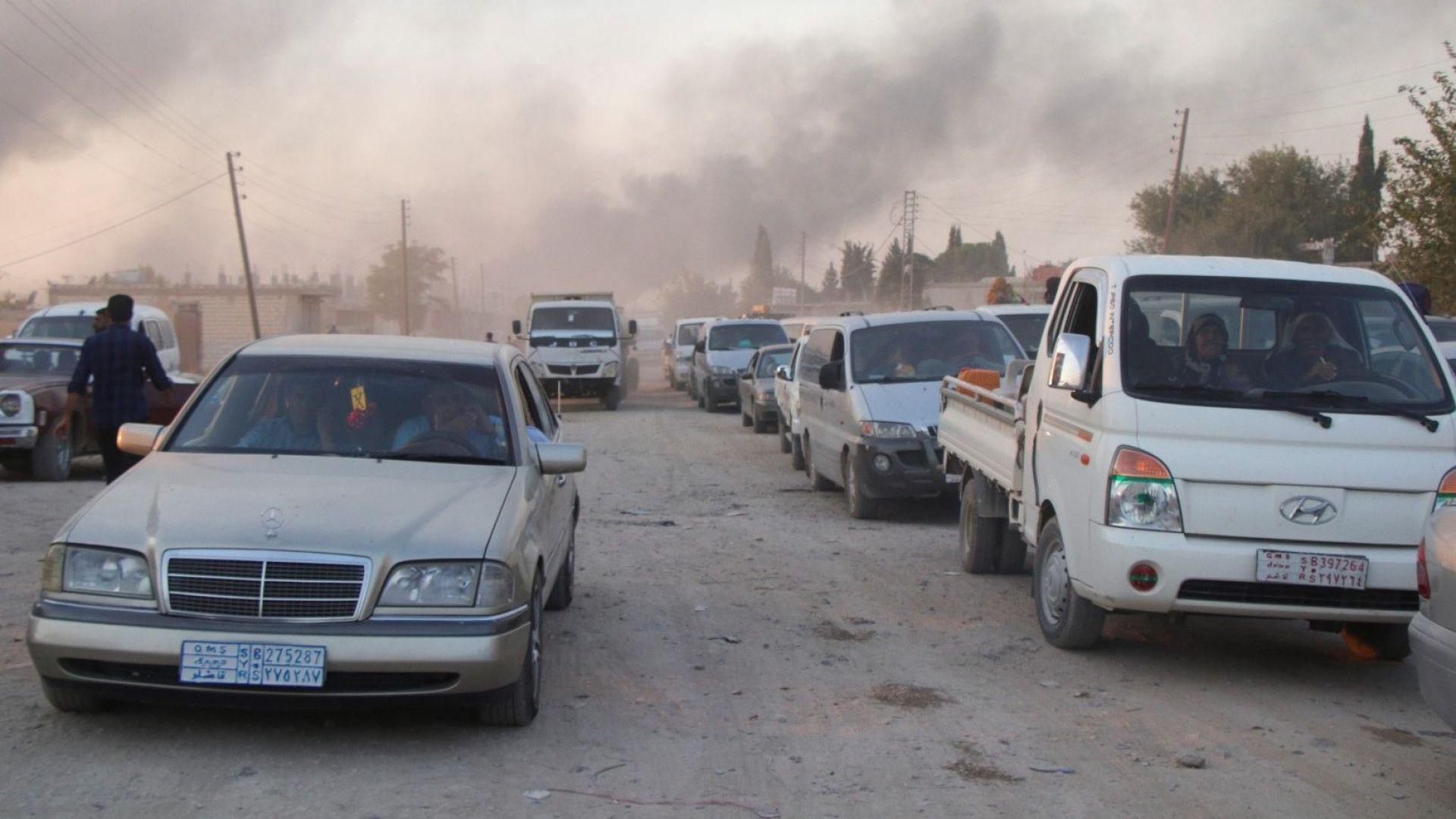 Турската армия започна сухопътна военна операция в Северна Сирия, след