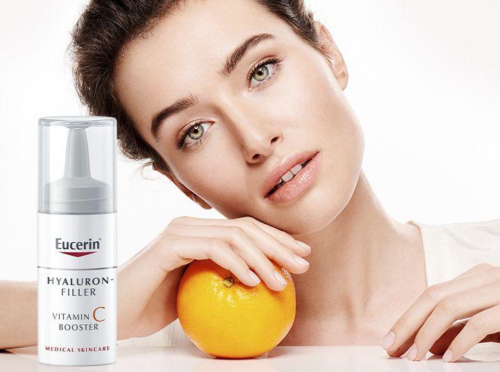 Концентрацията на Vitamin C в Eucerin Hyaluron- Filler Vitamin C Booster около 200 пъти по-висока от тази в един портокал.