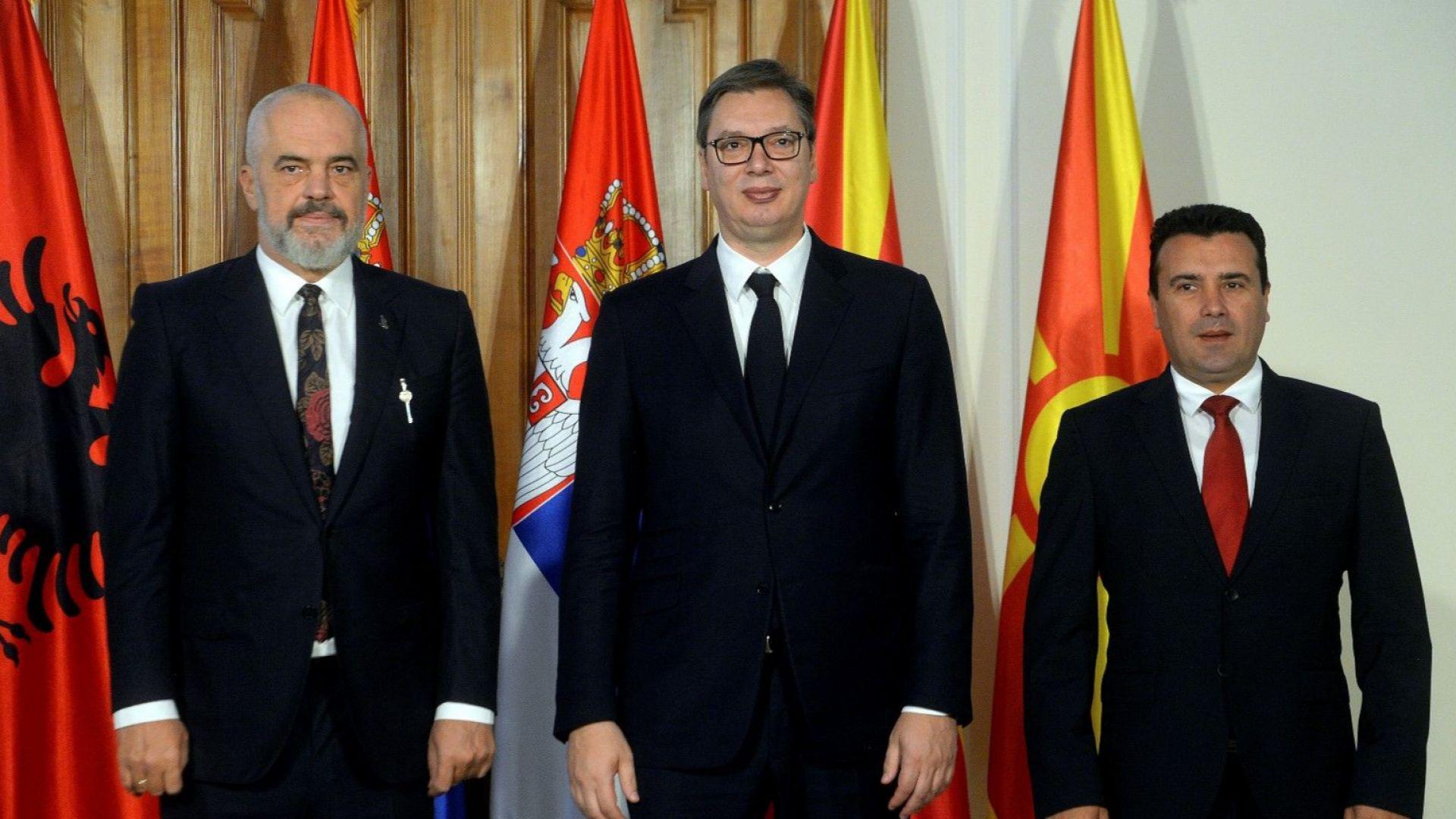 Лидерите на Сърбия, Албания и Северна Македония Александър Вучич, Еди