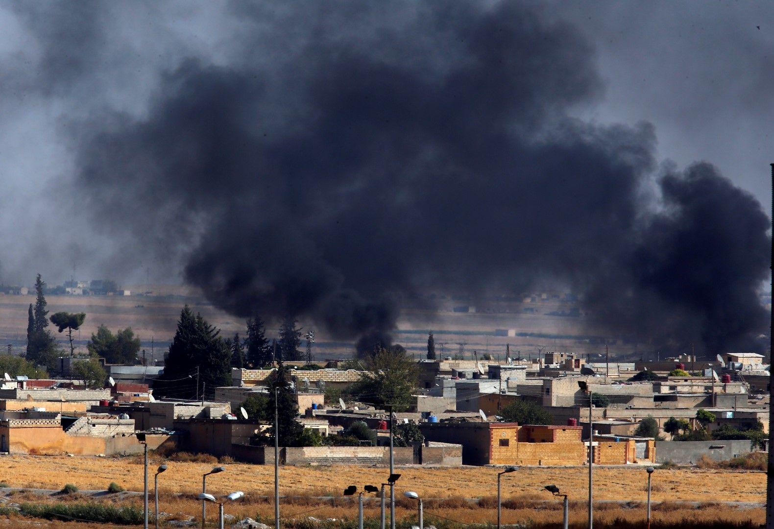 Атакувани позиции на кюрдските сили