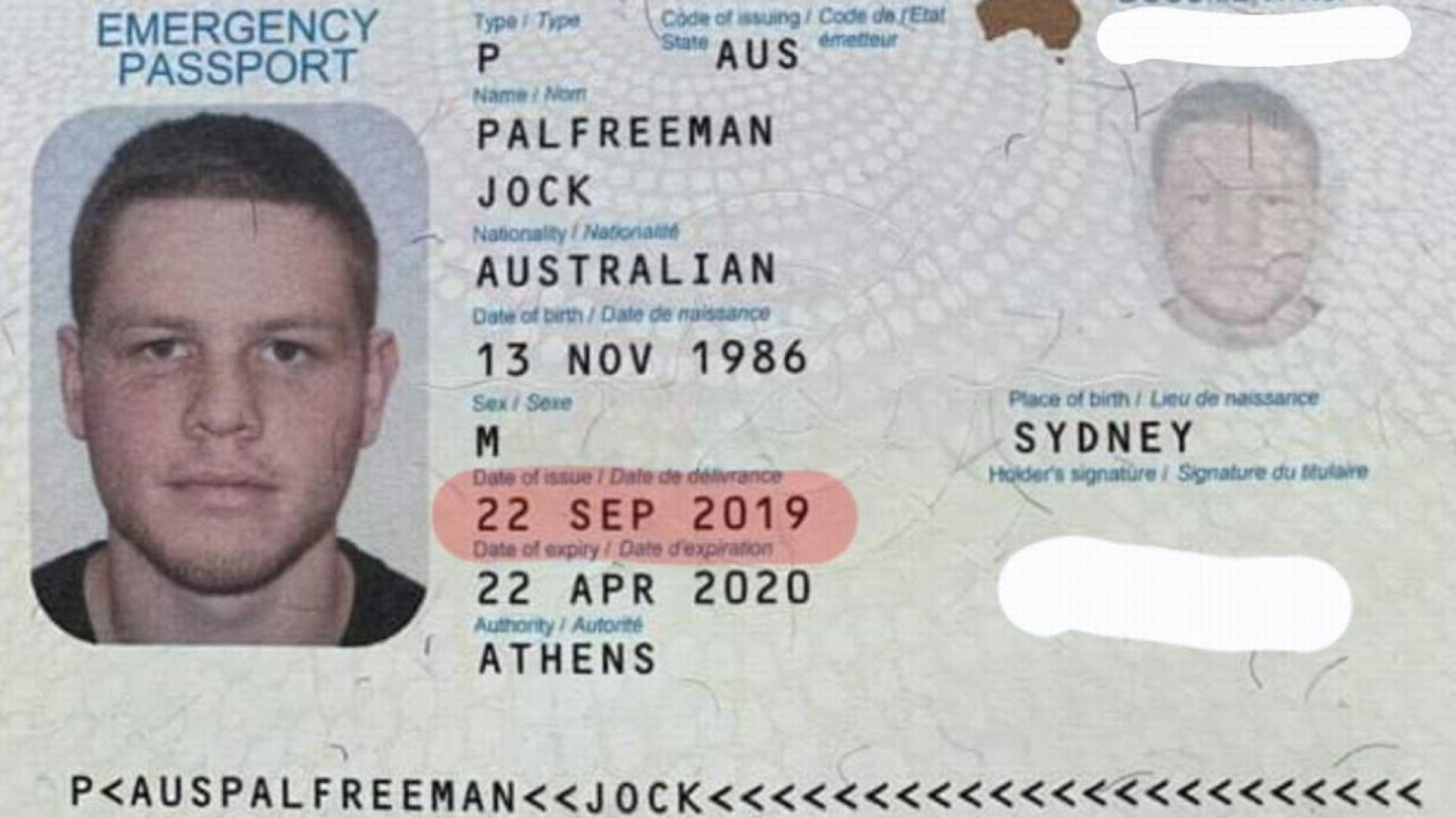 Джок Полфрийман има издадени документи, но не ги е получил