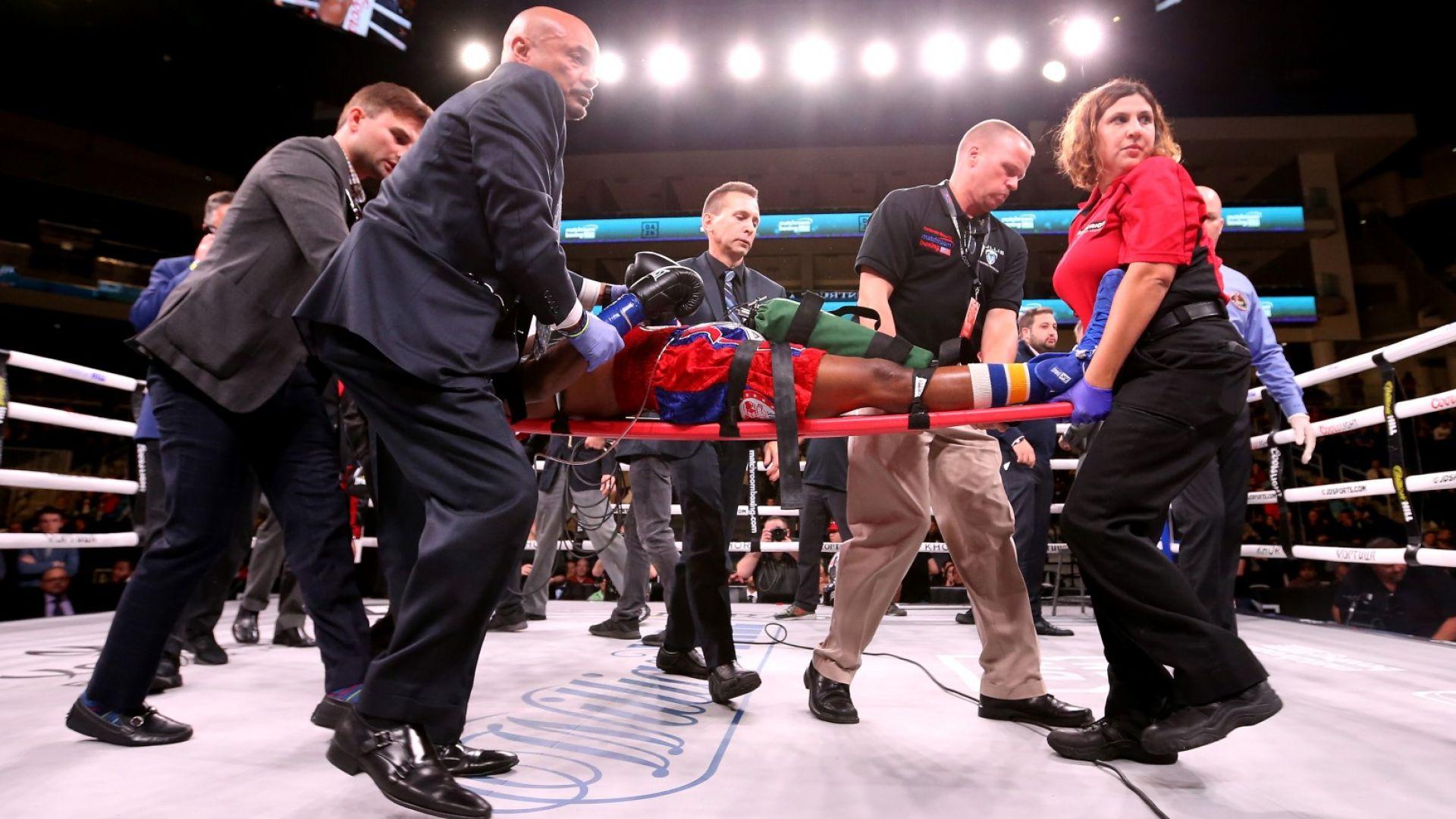 Американски боксьор се бори за живота си след нокаут