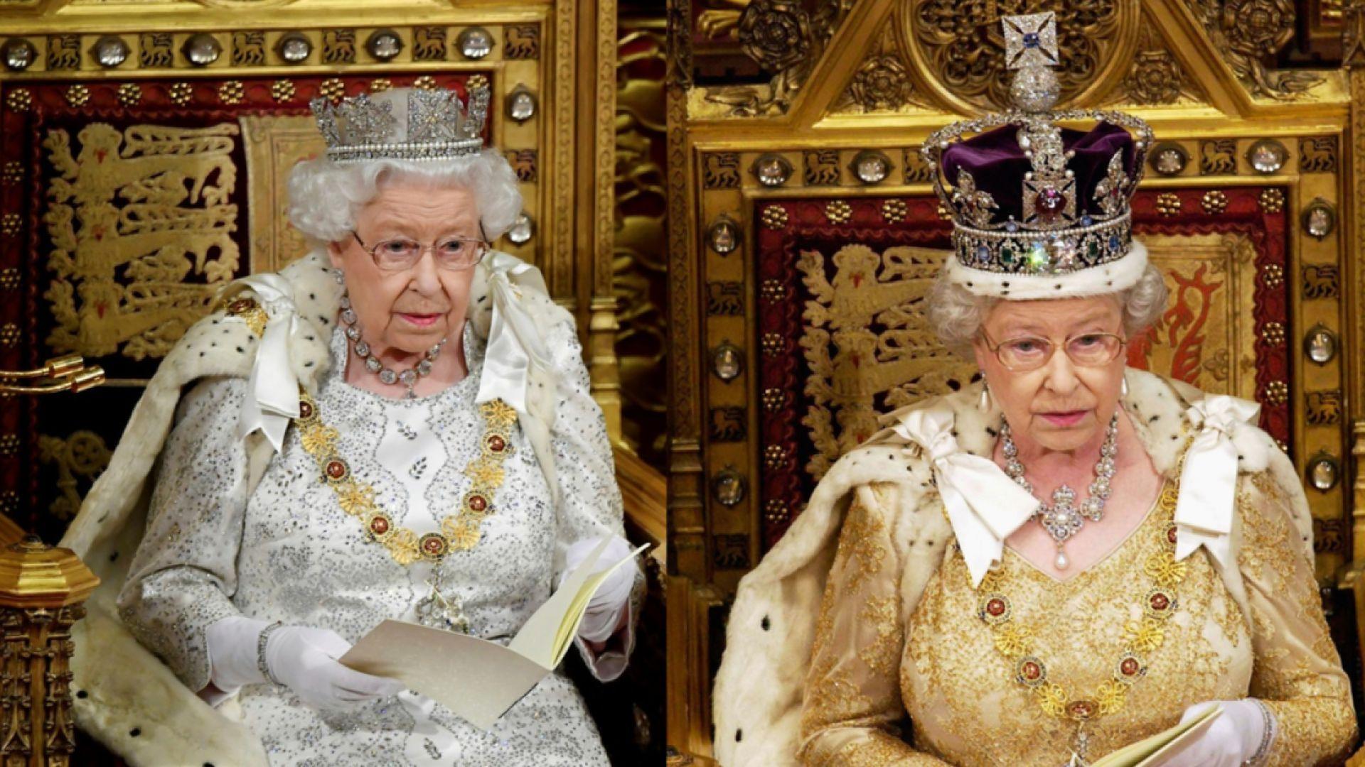 Елизабет II не сложи имперската корона за речта си, избра по-лека