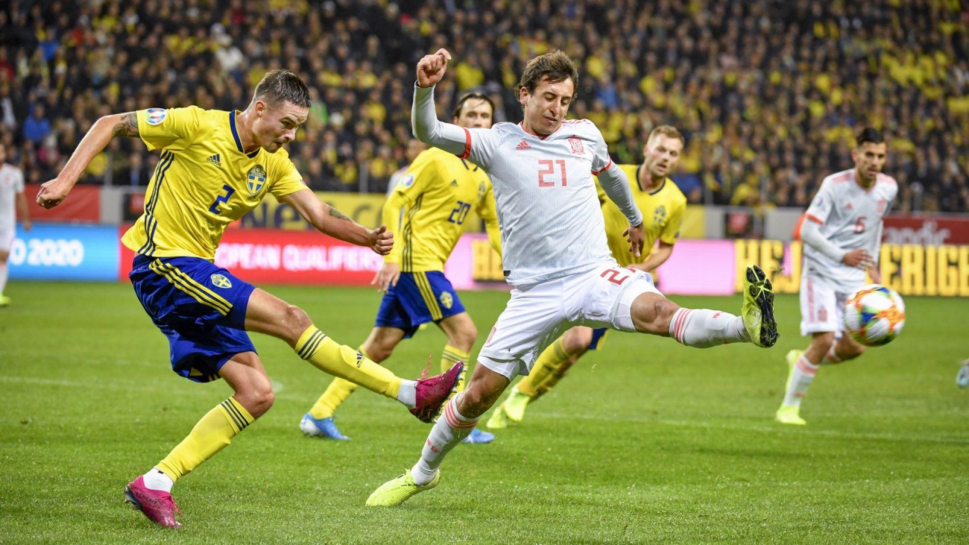 Испания разплака шведите с последния удар и завърза още групата (обзор)