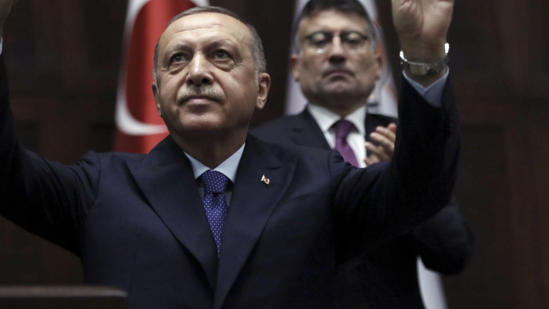 Турският президент Реджеп Тайип Ердоган заяви, че няма намерение да