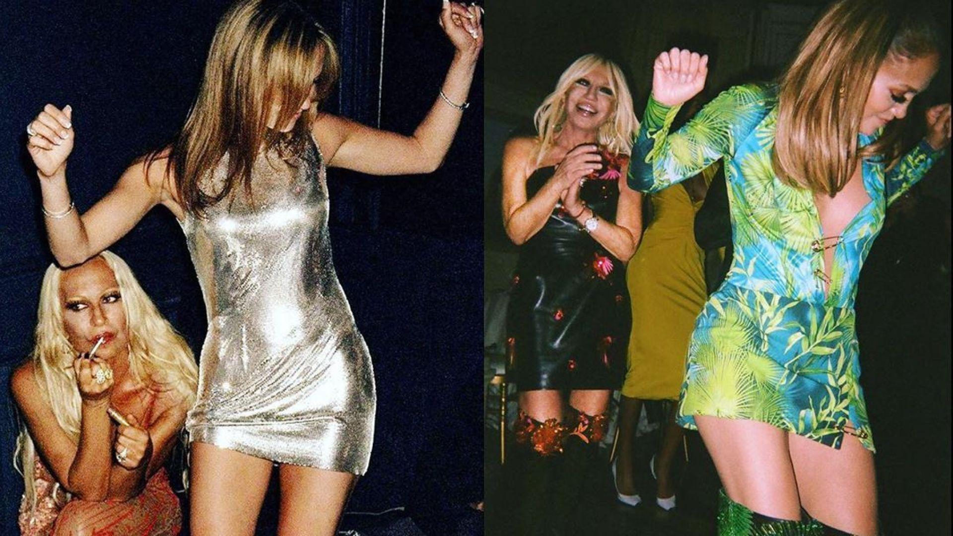 20 години разлика: Донатела Версаче сподели снимки с Джей Ло