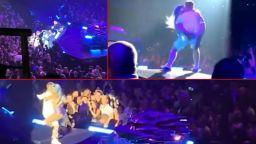 Лейди Гага падна от сцената с фен, когото покани да танцуват