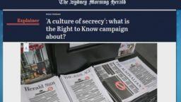 Протест срещу властта - австралийски вестници питат какво крие правителството