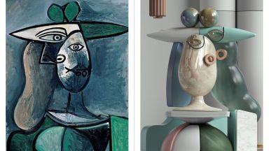 Портрети на Пикасо се превърнаха в удивителни 3D скулптури