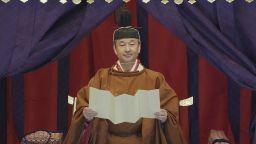 126-ият японски император Нарухито провъзгласи възкачването си на трона  (снимки)