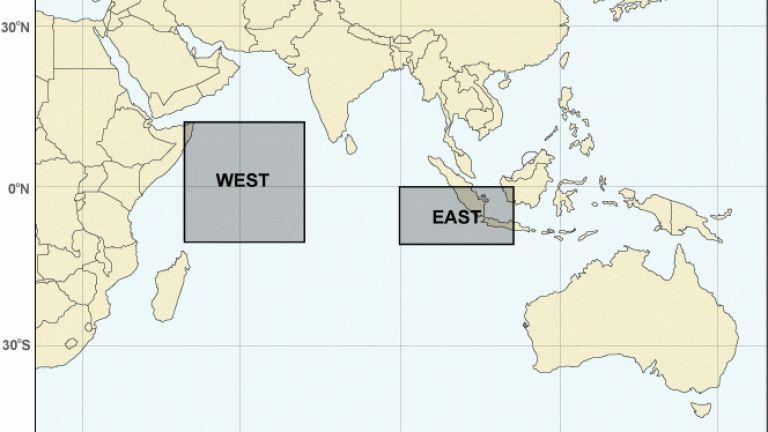Зоните, въз основа на чиито температури се дефинира ИОД