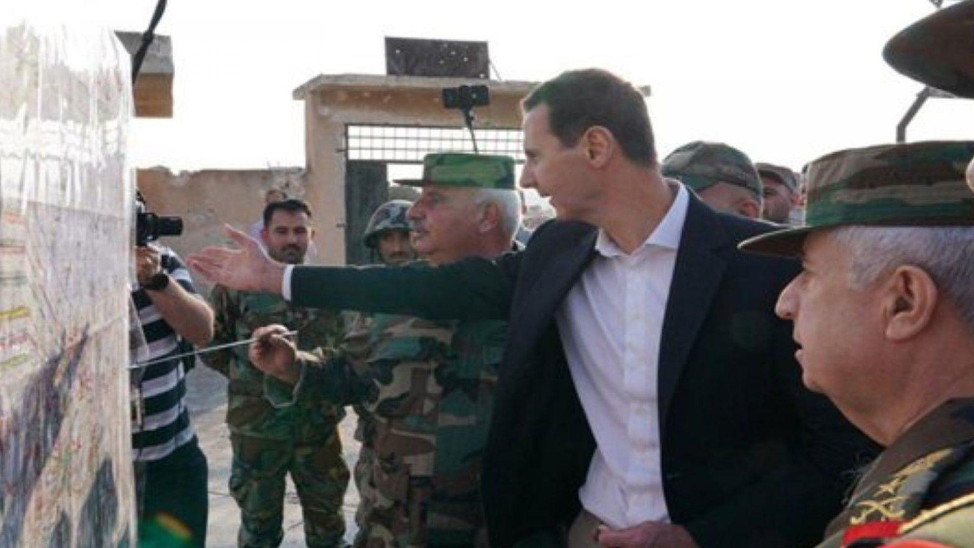 Сирийският президент Башар ал Асад заяви днес при неочаквано посещение
