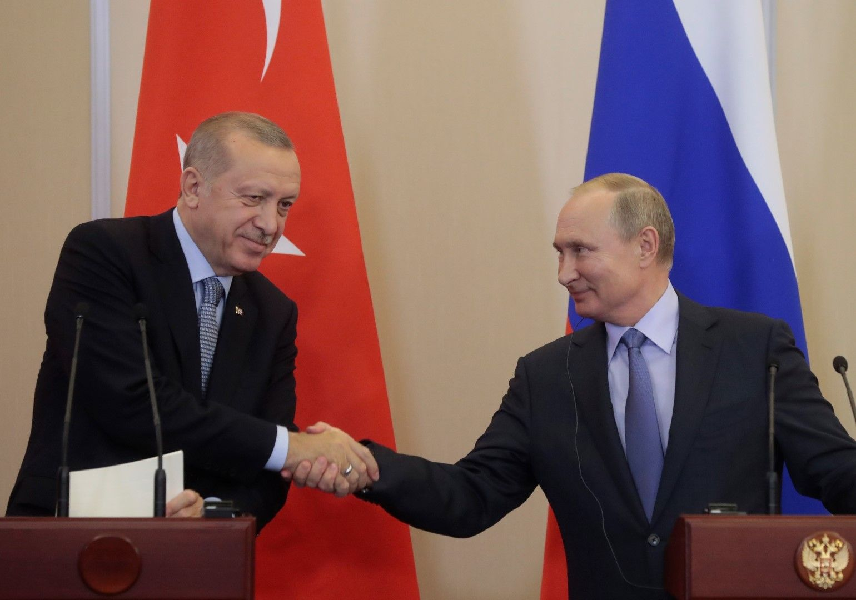 Ердоган и Путин се срещнаха наскоро в Сочи