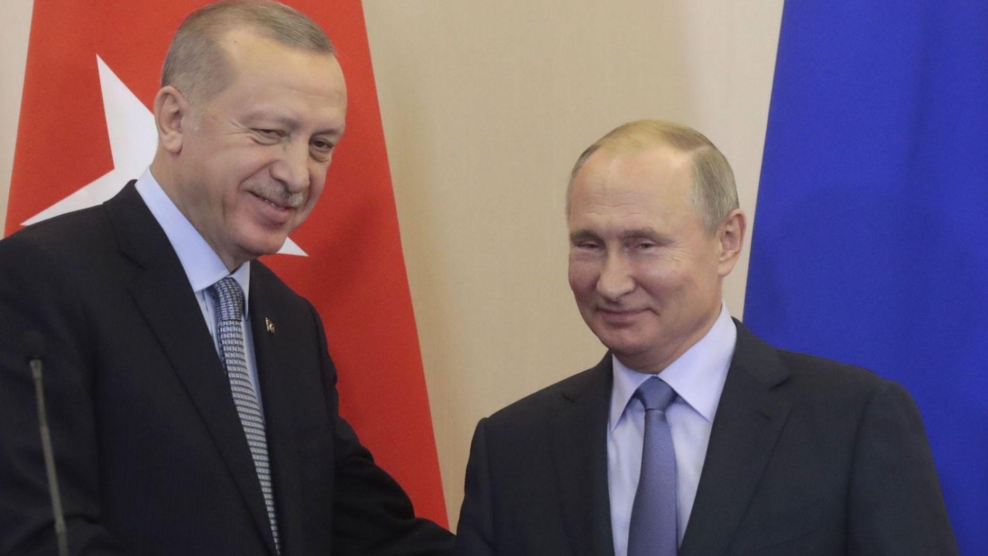 Путин след срещата с Ердоган: Сирия трябва да бъде освободена от незаконното чуждестранно военно присъствие