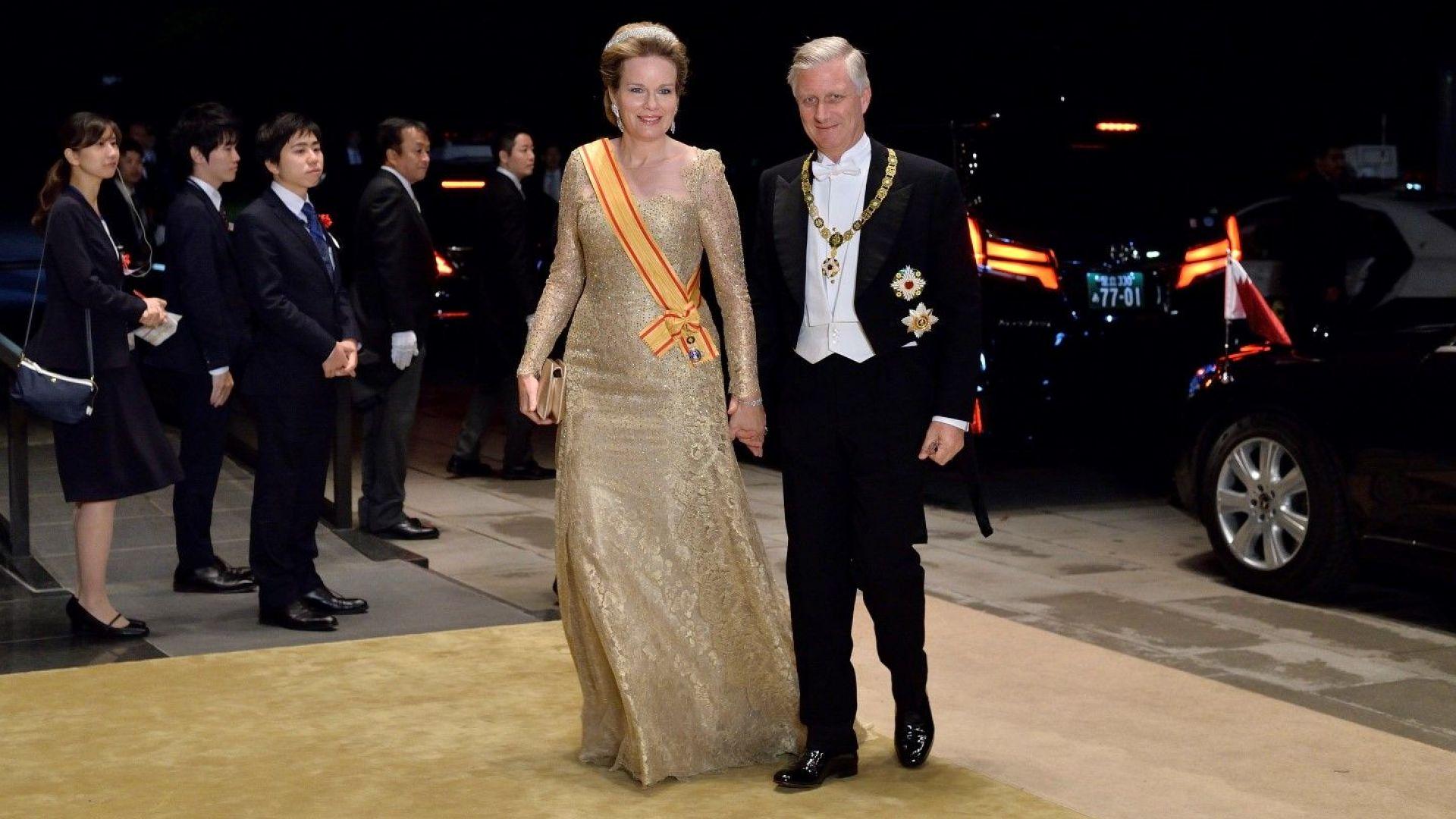 Белигийския крал Филип и кралица Матилд