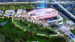 Бекъм показа проекта на супермодерния стадион в Маями