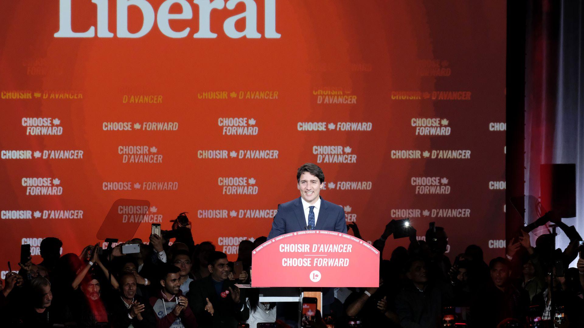 Без абсолютно мнозинство, новото правителство на Джъстин Трюдо ще трябва