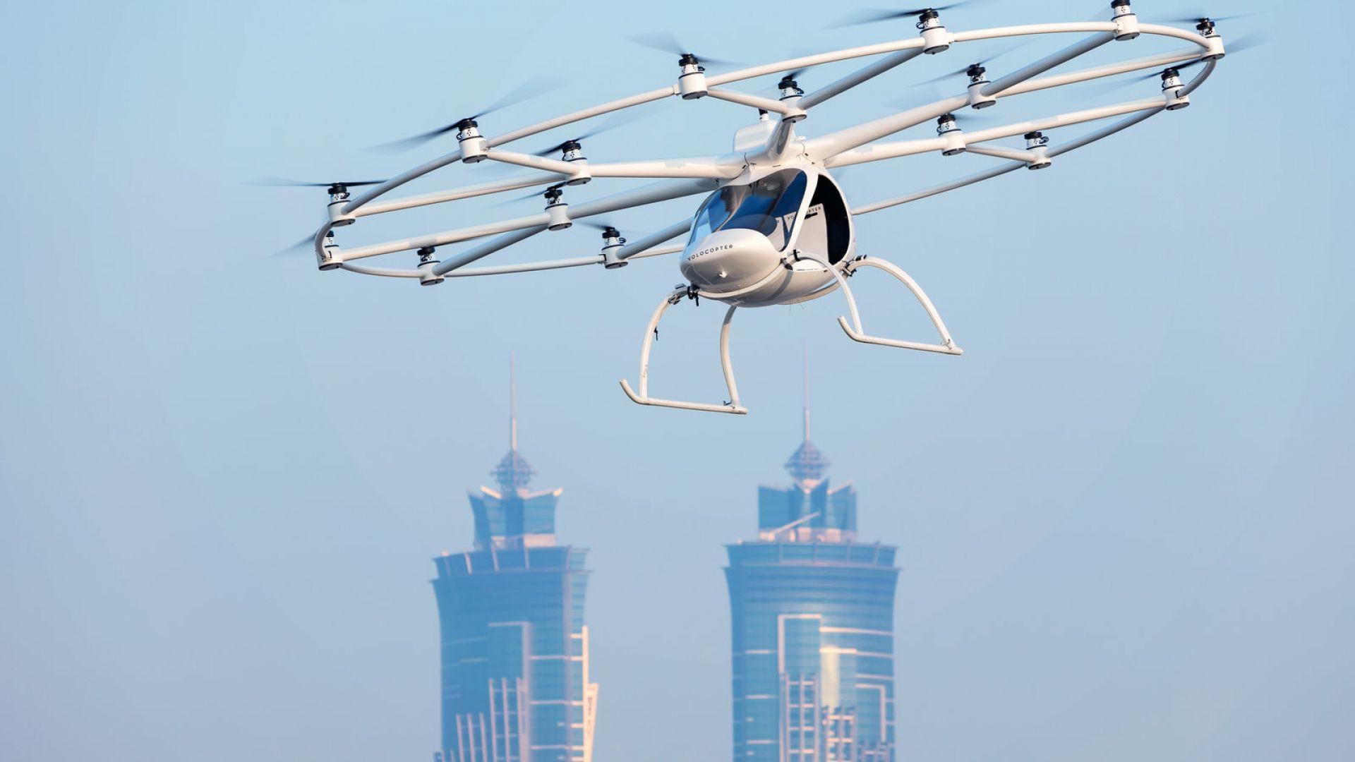 Пръв полет на дрон-такси (видео)