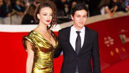 Деси Тенекеджиева на червения килим на кинофестивала в Рим с млад актьор