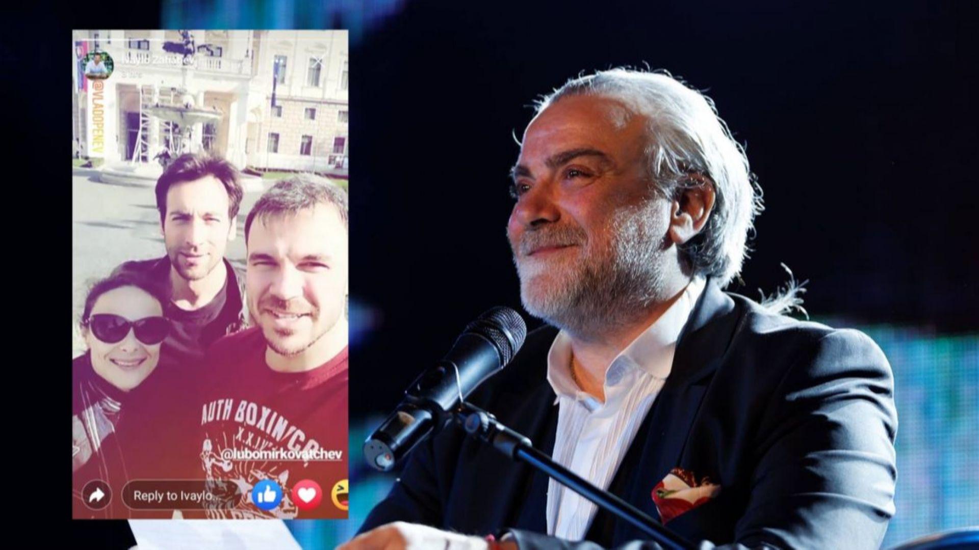 Йоана Буковска и Ивайло Захариев поздравиха Владо Пенев за РД от Братислава