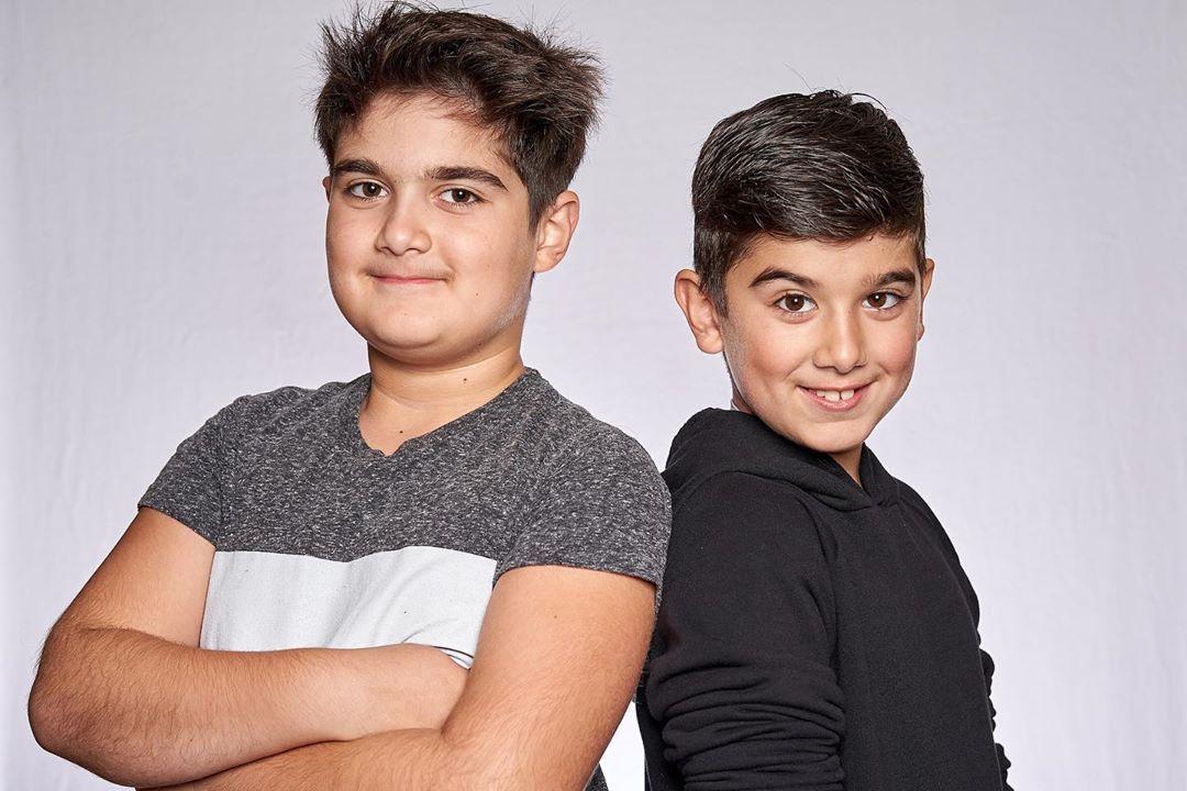 Близнаците на Селин и Рене - Нелсън и Еди