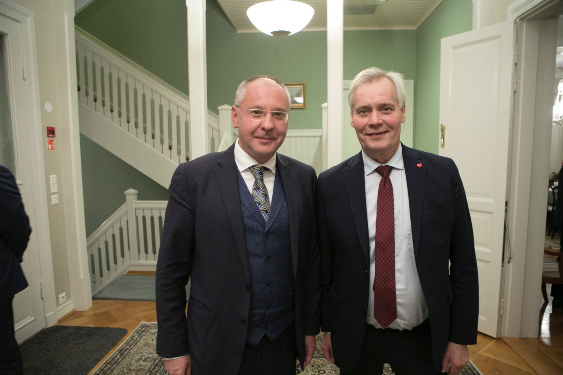 Сергей Станишев с финландския премиер Анти Рине, лидер на управляващата Финландска социалистическа партия, която беше домакин на заседанието на президиума на ПЕС