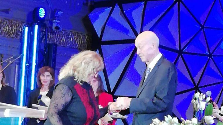Валя Марчева на церемонията по награждаване на майки от SOS Детски селища