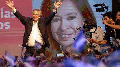 Аржентина избра за президент левия кандидат, в Уругвай ще има балатож (снимки)