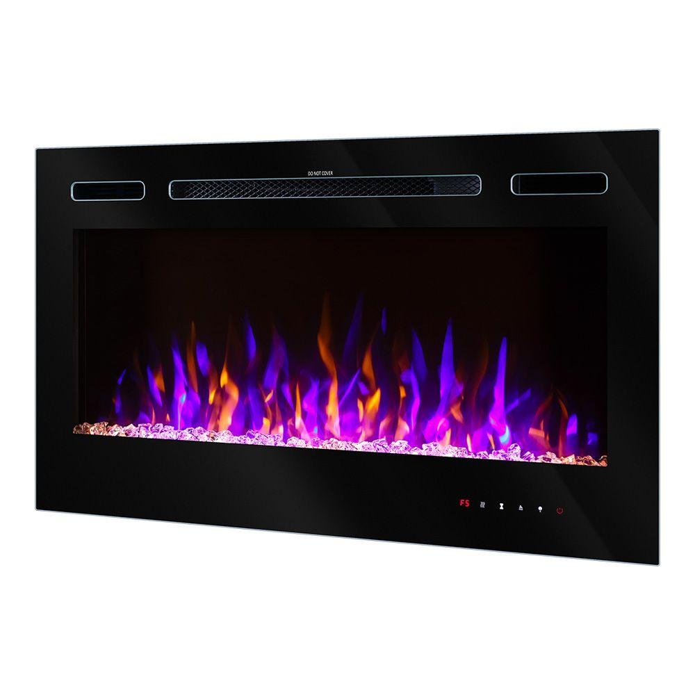 Стенна електрическа камина Adely 1500W с изключително реалистичен пламък в 3 цветови комбинации и 4 степени на яркост Цена 549лв.