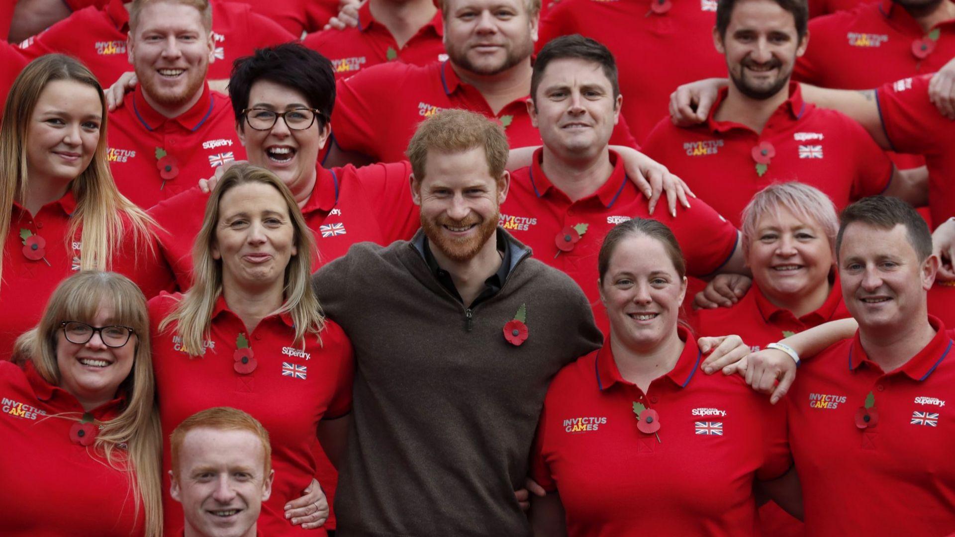 """Принц Хари събра отбора от ветерани за игрите """"Инвиктус"""" през 2020"""