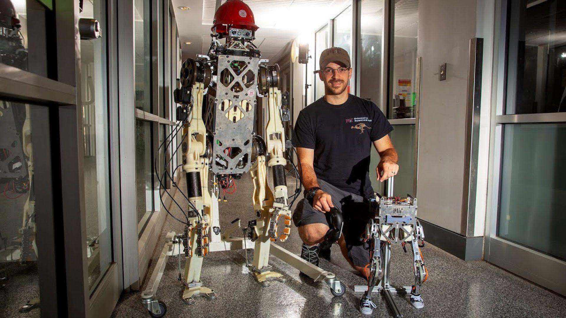 Малък двуног робот ходи и скача като човек (видео)
