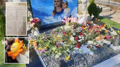 Разтърсващо писмо от жена с мъж насилник оставено на гроба на убитите Дарина и Никол