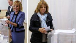 Фандъкова спечели с 20 хил. гласа повече от Манолова, а ГЕРБ - със 17:4 срещу БСП