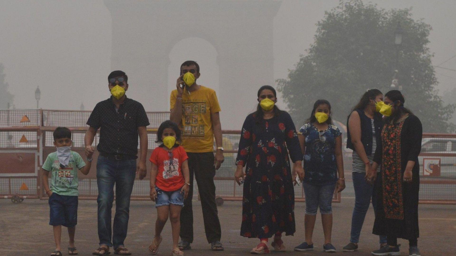 Снимка: Замърсяването на въздуха в Делхи достигна непоносими нива