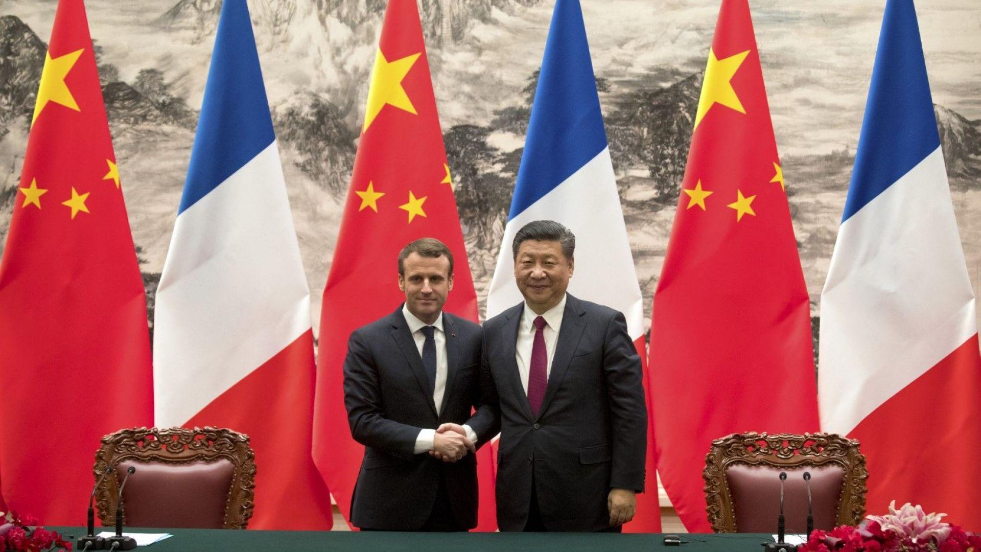 Макрон отново е в Китай, на преден план са търговията и културата