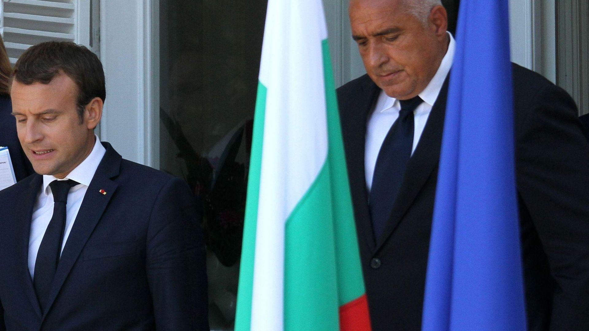 Борисов към Макрон: Трябва да се помогне на Турция