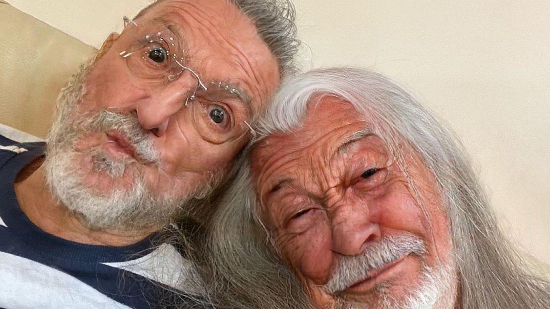 Маги Халваджиян и Зуека като дядовци