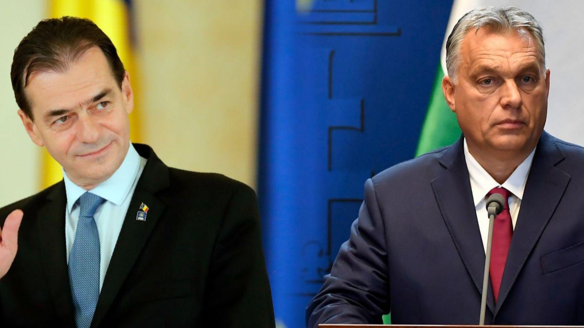 Орбан от Будапеща поздрави Орбан от Букурещ