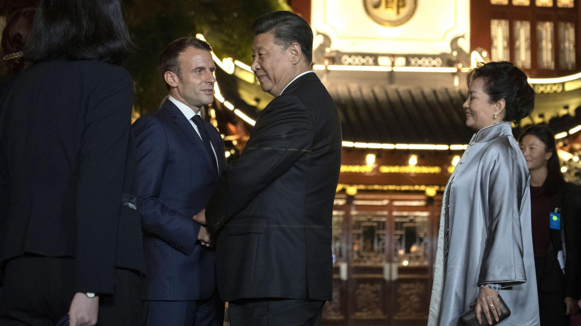 """Макрон се обяви за """"решаващо"""" сътрудничеството между Европа и Китай за климата"""