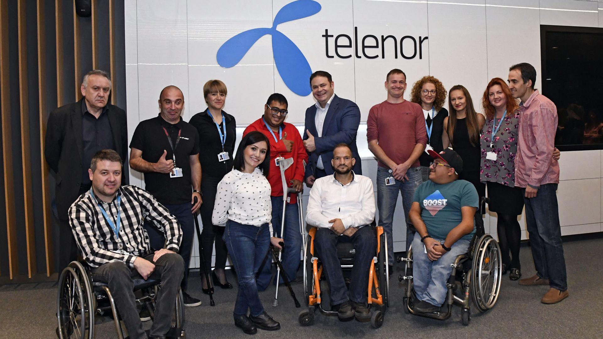 Теленор посреща новите си служители по програмата за хора с увреждания Open Mind