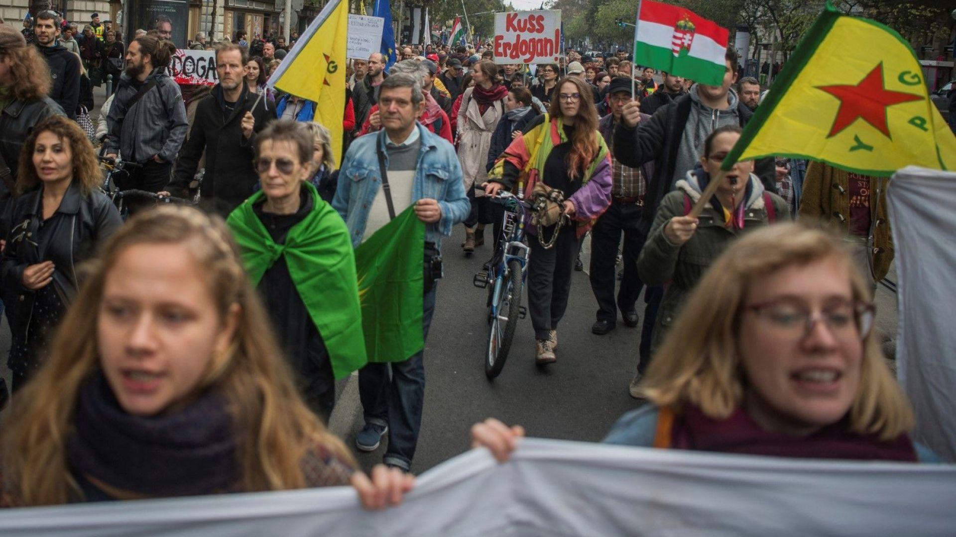 Протест срещу посещението на Ердоган в Унгария