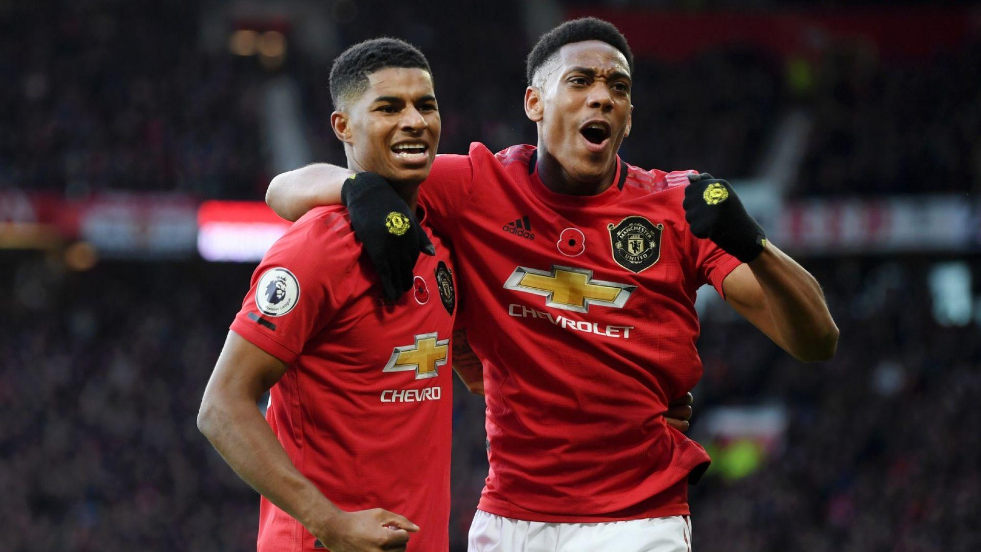 """Юнайтед показа мощ на """"Олд Трафорд"""" и качи седем позиции"""