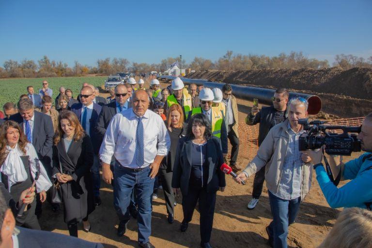 Премиерът Борисов, министър Петкова инспектират строителството на газовата връзка с Гърция, 19 ноември 2019 г.ия