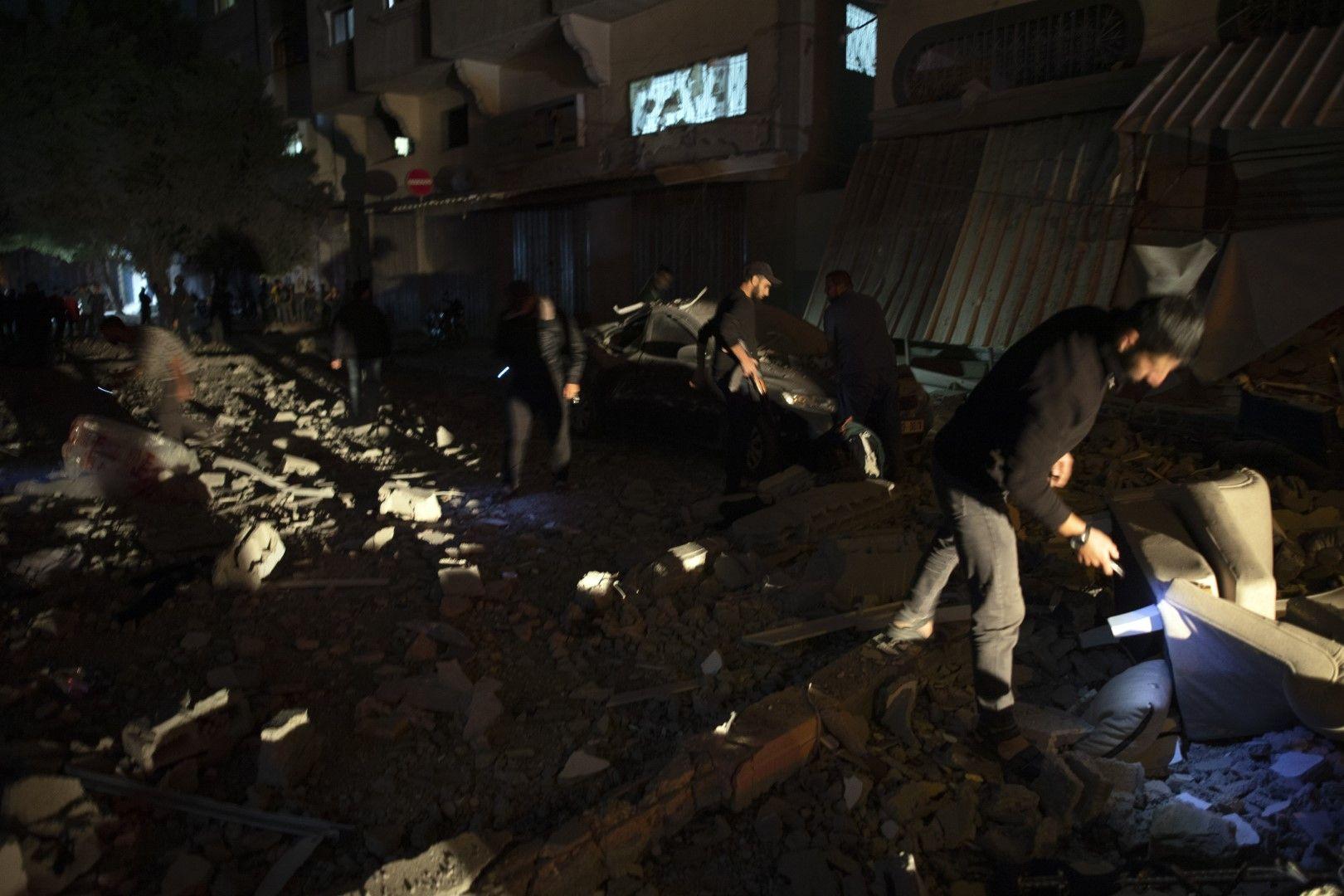 Останки от къщата, срината с израелски ракетен удар