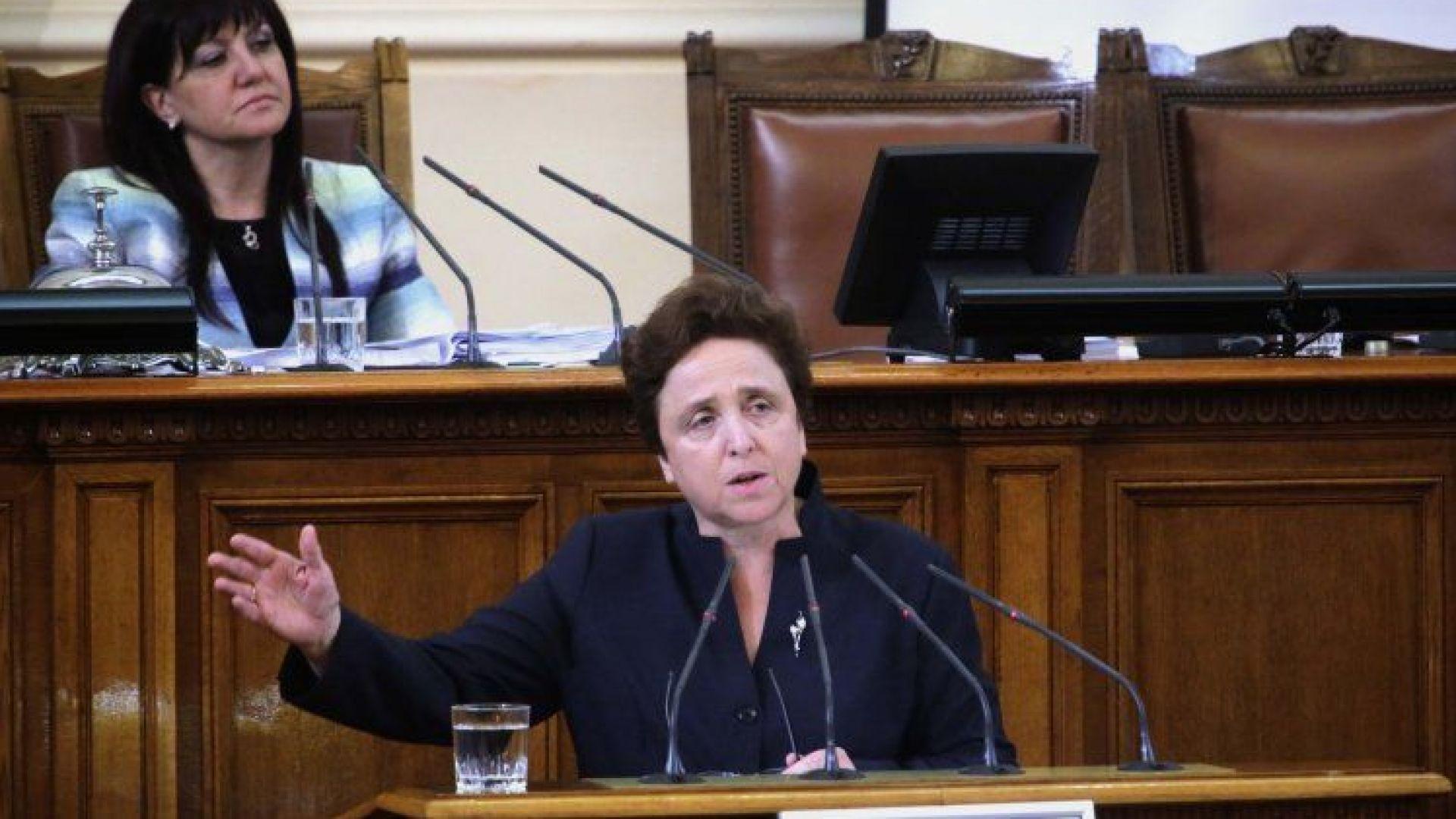 Дора Янкова : В този бюджет има малки заплати, ниски пенсии и определени региони ще продължат да потъват