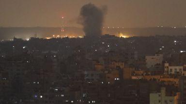 Израел нанесе въздушни удари по позиции на Хамас