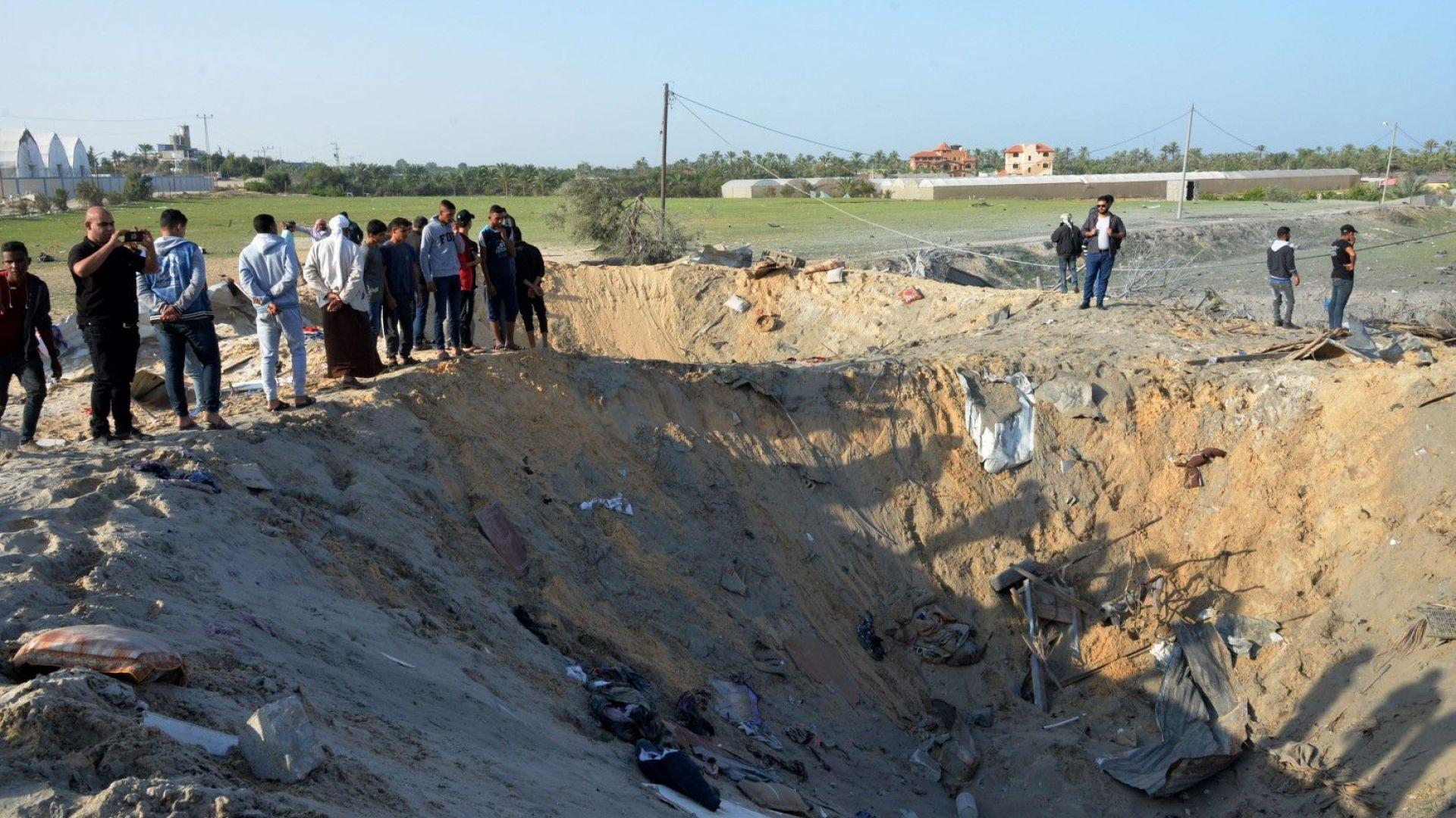 Израел възобнови въздушните  удари срещу цели в ивицата Газа