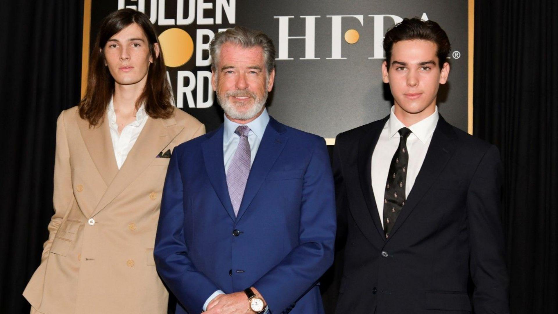 """Синовете на Пиърс Броснан станаха първите момчета посланици на наградите """"Златен глобус"""""""